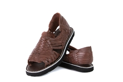 (Raw & Rustic) Generic Women's Authentic Pachuco Huaraches - Brown