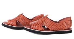 (Raw & Rustic) Generic Men's Authentic Pachuco Huaraches - Reddish Brown