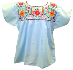 Embroidered Pueblo Blouse - Black (Large)