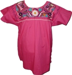 Embroidered Pueblo Blouse - Fuschia (X-Large)