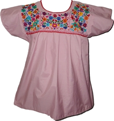 Embroidered Pueblo Blouse - Pink (Medium)
