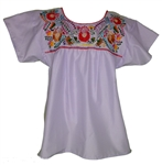 Embroidered Pueblo Blouse - Lilac