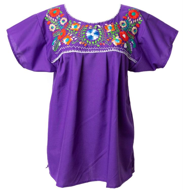 Embroidered pueblo blouse purple