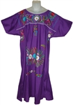Embroidered Pueblo Dress - Violet (XXL)