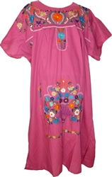 Embroidered Pueblo Dress - Pink (XXXL)
