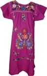 Embroidered Pueblo Dress - Violet (Large)