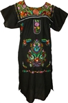 Embroidered Pueblo Dress - Black (Large)