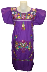 Embroidered Pueblo Dress - Purple (Medium)
