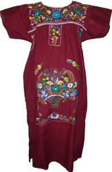 Embroidered Pueblo Dress - Violet (Medium)