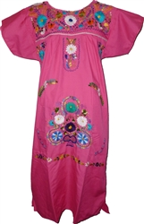 Embroidered Pueblo Dress - Pink (Medium)