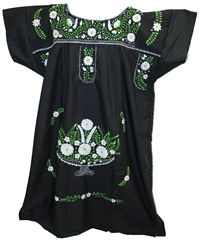 (4XL) Mexican Embroidered Pueblo Dress - Unique 251
