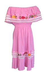Mexican Pueblo Crochet Dress - Unique #500