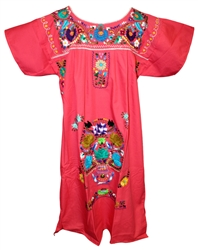 (L) Mexican Embroidered Pueblo Dress - Unique #77