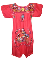 (L) Mexican Embroidered Pueblo Dress - Unique #78