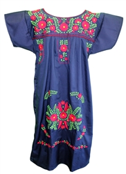 (L) Mexican Embroidered Pueblo Dress - Unique #79