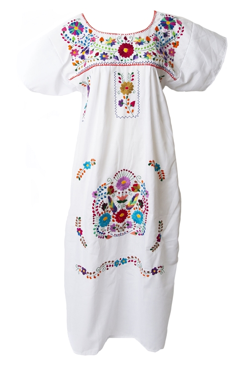 Mexican dress embroidered bohemian dresses