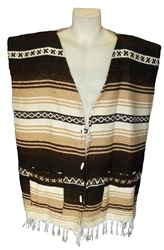 Poncho Vests - Brown (X-Large)