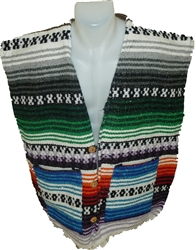 LARGE Poncho Vests - Colores