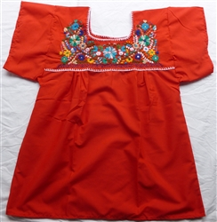 Embroidered Pueblo Blouse - Red (Medium)