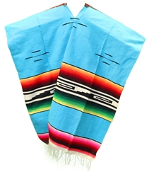 Tribal Serape Mexican Poncho - Multi 101