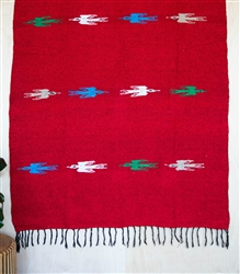 Tribal Solid Blanket - Red