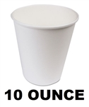 Wax Coated Paper Hot Cups 10 Ounce 1000ct