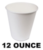 Wax Coated Paper Hot Cups 12 Ounce 1000ct