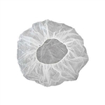 "In-House Brand Latex Free Disposable 21"" WHITE Bouffant Caps Hairnets - 10 x 100ct."
