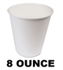 Wax Coated Paper Hot Cups 8 Ounce 1000ct