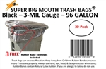 96 Gallon Trash Bags Super Big Mouth Large Industrial 96 GAL Garbage Bags Can Liners