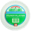 6 Inch Un-Coated White Paper Plates 1000ct