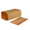 Boardwalk Single-Fold Paper Towels Natural Kraft 9 x 9.45 Sheet Size 16 x 250ct