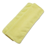 "BWK-16YELCLOTH - Boardwalk Washable Yellow Microfiber Cleaning Cloths 16"" x 16"" - 24 Pack"