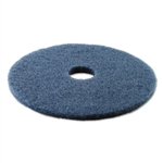 "19"" In-House Brand Blue Scrubbing Scrub Floor Pads 5ct"