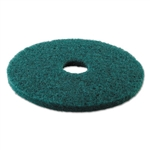 "19"" In-House Brand Green Heavy Duty Scrubbing Scrub Floor Pads 5ct"