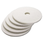 "19"" In-House Brand White Polishing​ Floor Pads 5ct"