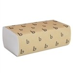 Model BWK6200 - Boardwalk White Multi-Fold Paper Hand Towels 9 x 9.45 Sheet Size 16 x 250ct