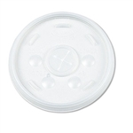 Dart Plastic Lids For Hot/Cold Foam Cups Translucent Straw Slotted 1000ct