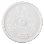 Dart Plastic Lids For Hot/Cold Foam Cups White Sip Thru Lid 1000ct