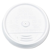 Dart Plastic Lids For Hot/Cold Foam Cups Sip Thru Lid No Straw Slot White 1000ct