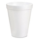 Dart White Styro Foam Cups 6 Ounce Styrofoam Hot or Cold 1000ct