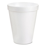 Dart White Styro Foam Cups 8 Ounce Styrofoam Hot or Cold 1000ct
