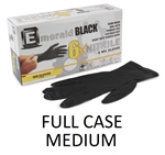 Model 6101 - Emerald Black 6X Powder Free 6-MIL NITRILE Exam Gloves 10 x 100ct - MEDIUM