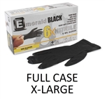 Model 6103 - Emerald Black 6X Powder Free 6-MIL XL NITRILE Exam Gloves 10 x 100ct - EXTRA LARGE