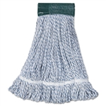 In-House Brand LARGE BLUE WHITE STRIPED Looped End Rayon Finish Mop Head - 1 Each.