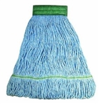 In-House Brand MEDIUM BLUE Looped End Cotton Mop Head - 1 Each.