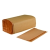 "In House Brand Single-Fold Paper Towels Natural Kraft 9"" x 9 1/2"" Sheet Size 16 x 250ct One-ply"