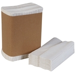 "White Tall Fold Dispenser Napkins - 7"" x 13.5"" - 20 Packs of 500ct - 10,000 1-Ply Luncheon Napkins"