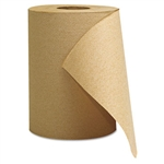 Economy Natural Brown Hardwound Paper Roll Towels In-House Brand 12 x 350'