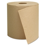 Economy Natural Brown Hardwound Paper Roll Towels In-House Brand 6 x 800'